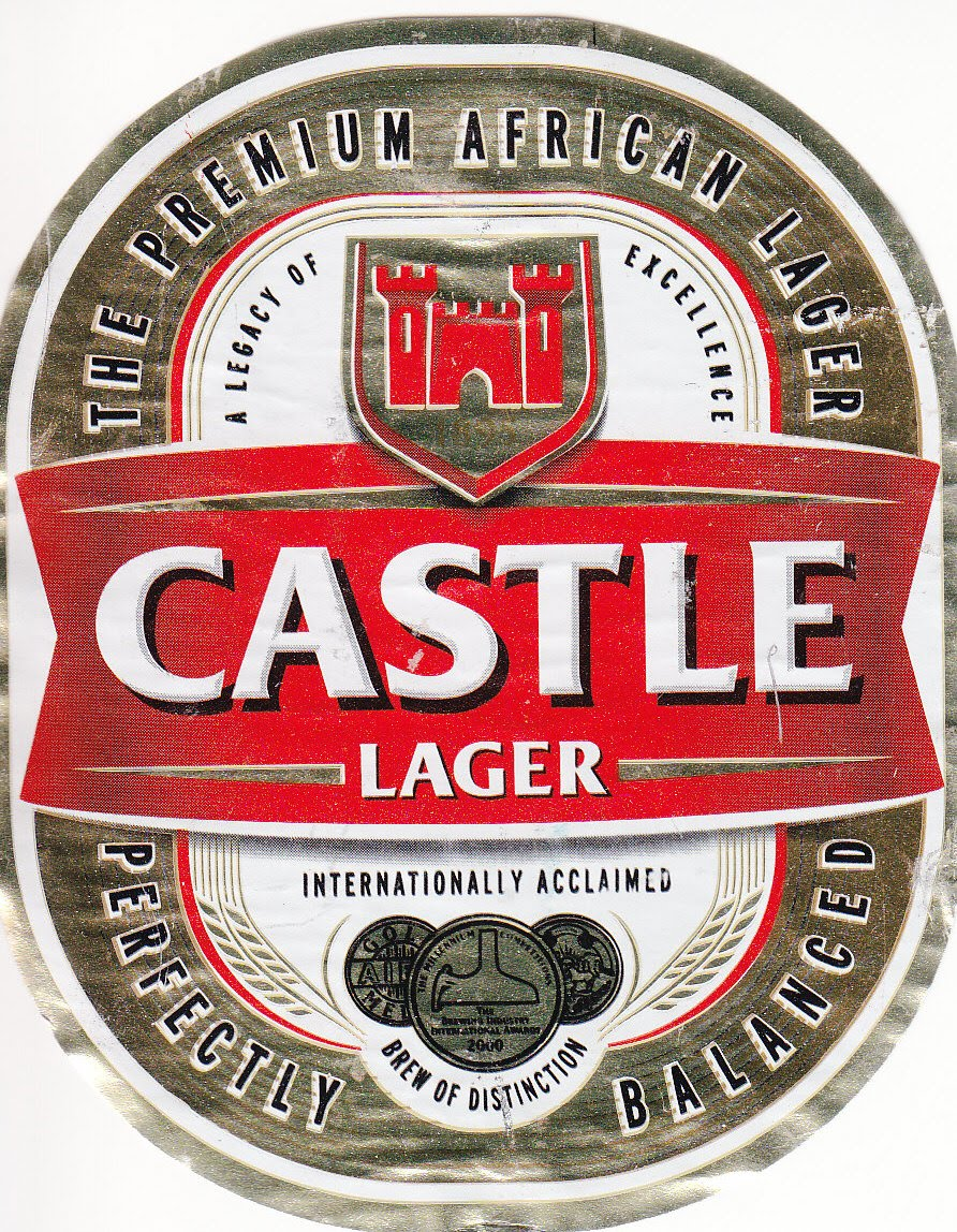 It is a picture of Lively Castle Lager Smash the Label Ad