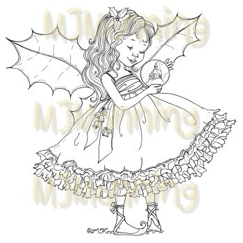 Digital pencil too christmas fairy holly for Christmas fairy coloring pages