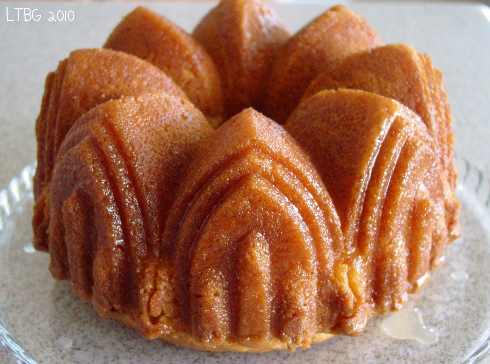 Golden Rum Cake Recipe