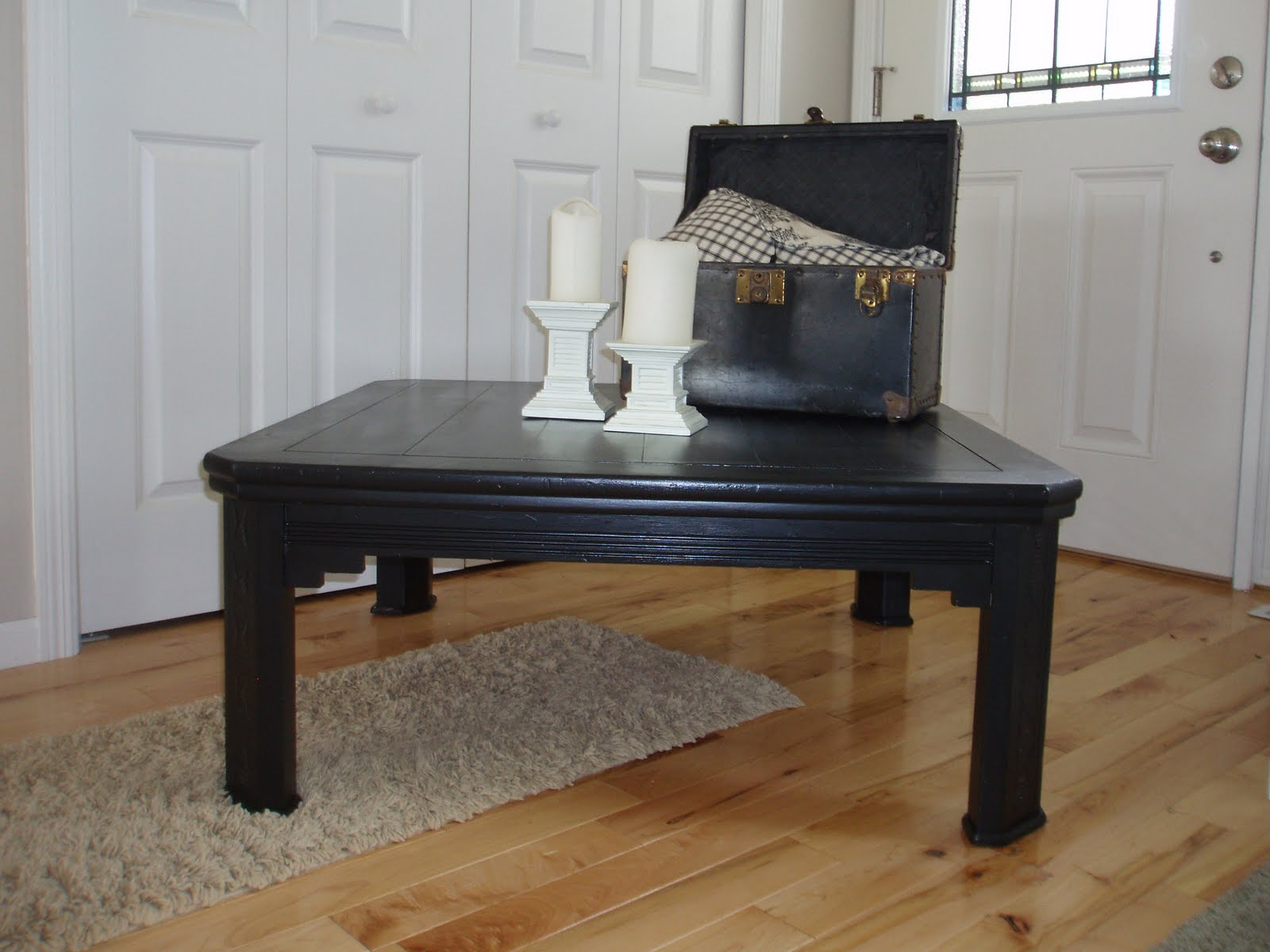 Red Barn Recycled: SOLD: Black Square Coffee Table