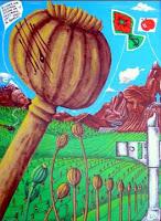 papavero d'oppio, dipinto