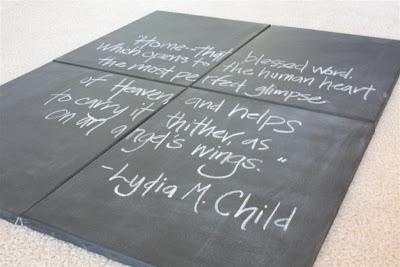 Chalkboard Spray Paint Craft Ideas