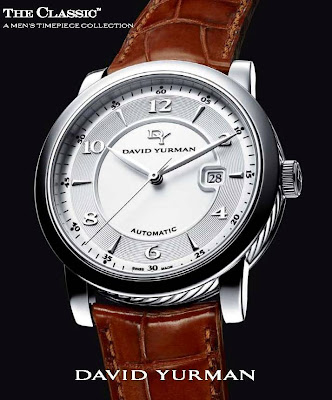 master horologer david yurman the classic men s watch collection the sapphire crystal has a double sided anti reflective coating and the exhibition case back displaying the custom skeleton rotor has also been applied