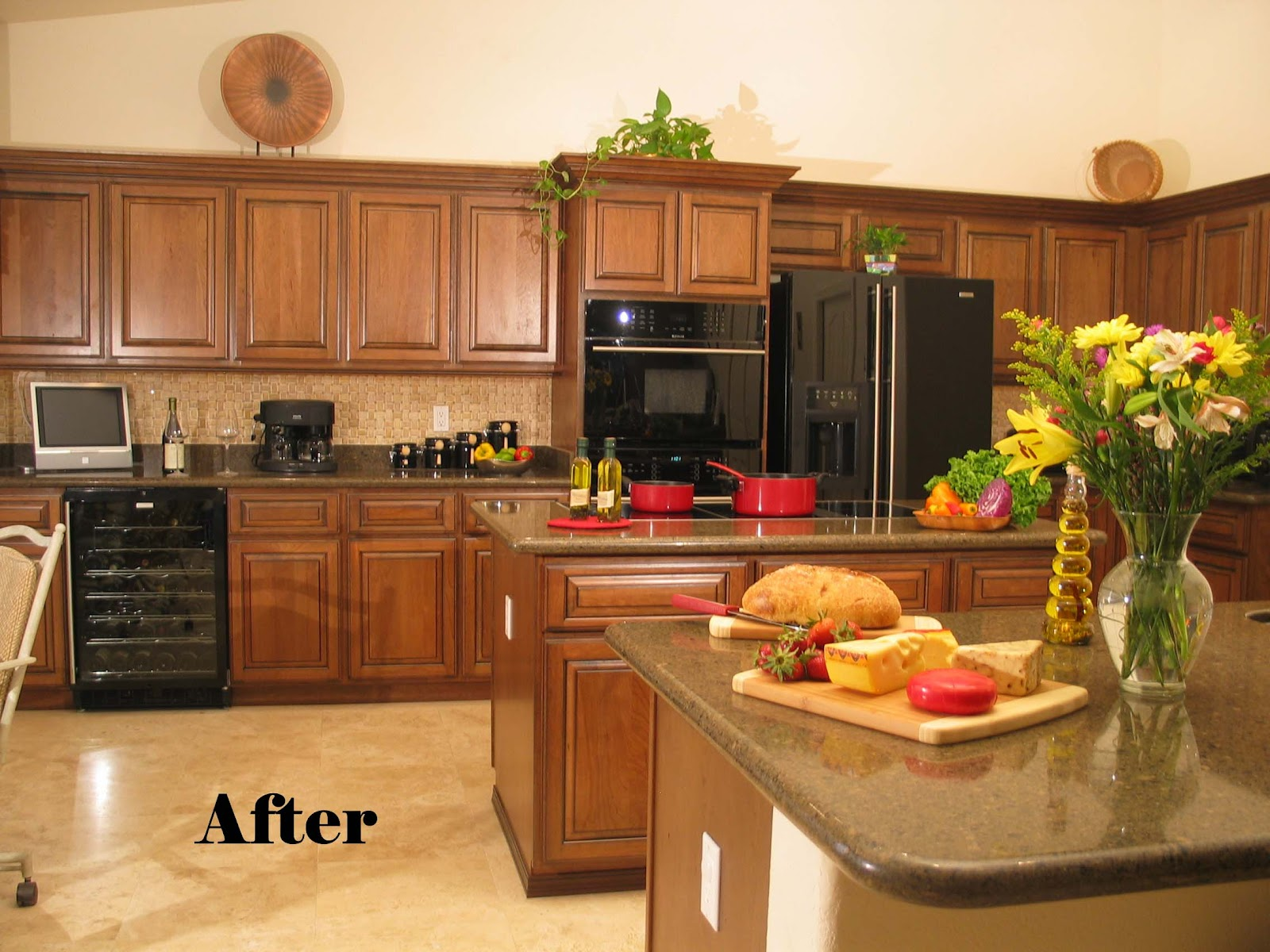 Resurfaced Kitchen Cabinets Before And After Kitchen Cabinet Refacing 2017 Grasscloth Wallpaper
