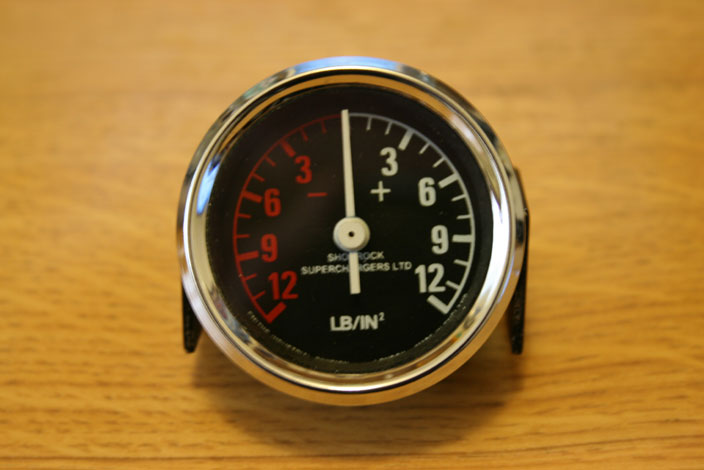 TAKE IT IN TOP!: Shorrock Supercharger Gauge
