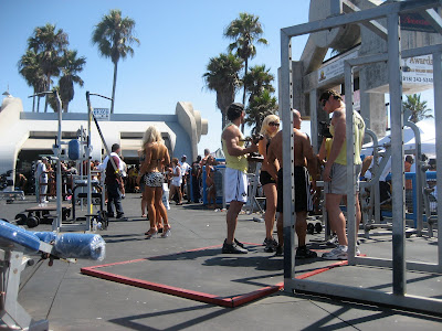 2691bf1cf I'm a small person, but never have I felt so tiny as I did during my visit  to Muscle Beach. We decided to check out the Muscle Beach Championships in  Venice ...