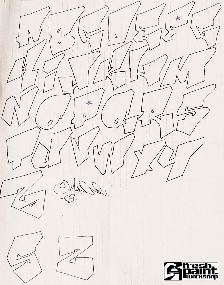 Graffiti Alphabet Letter A Z
