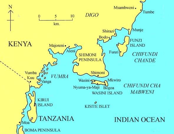 Wasini Island Map