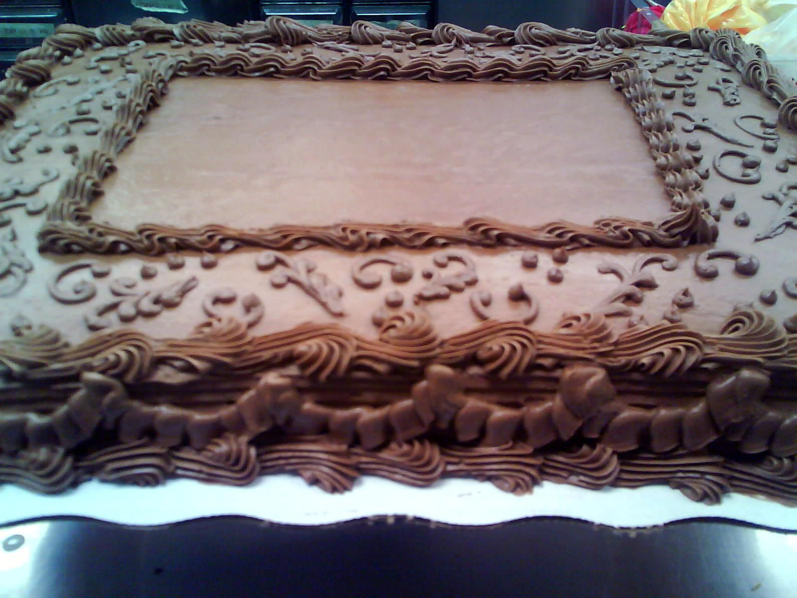 Chocolate Sheet Cake Decorating Ideas 117648 Go Back Image