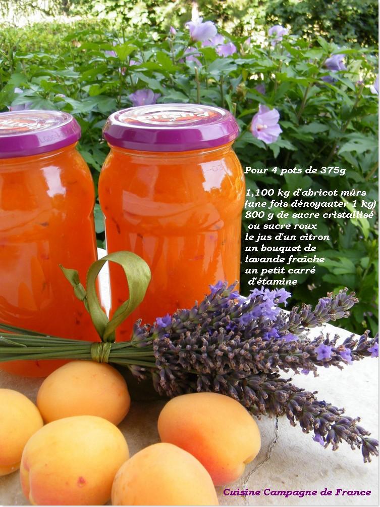 cuisine et campagne de france confiture d abricot a la lavande