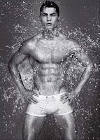 Cristiano Ronaldo for Armani underwear wet shower