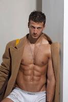 male model Michael Lewis TETU shirtless