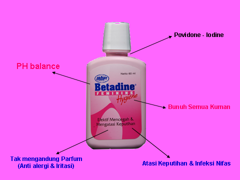 Betadine Feminine Hygiene: Apa sich KEPUTIHAN itu?