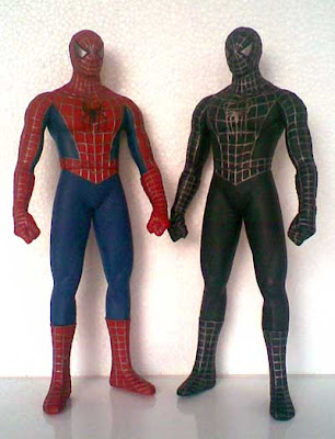 Jual Spiderman & Balck Spiderman Vinyl Action Figure