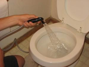 Image: Make your own diaper sprayer, by Nicole V. Bennett on NicoleVBennett.com
