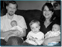 Image: David and Sarajean Grainson's family got a little larger when twin sons Matthew and David were born in May. Three-year-old Luke is now a big brother.