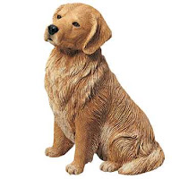golden retriever figurine sandicast