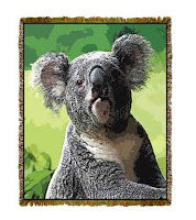 koala blanket throw tapestry
