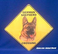 german shepherd crossing sign