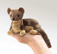 weasel puppet plush stuffed animal