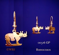 rhino earrings gold jewelry usa
