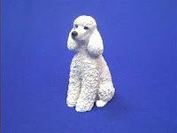 white poodle dog figurine