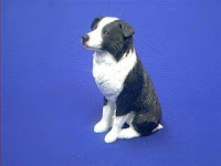 sandicast border collie figurine midsize