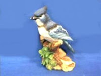 blue jay bird figurine