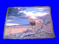 lion blanket throw safari sky
