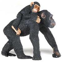 black chimpanzee toy miniatur