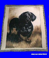 black dachshund blanket throw tapestry