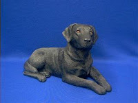 sandicast black lab figurine labrador original size