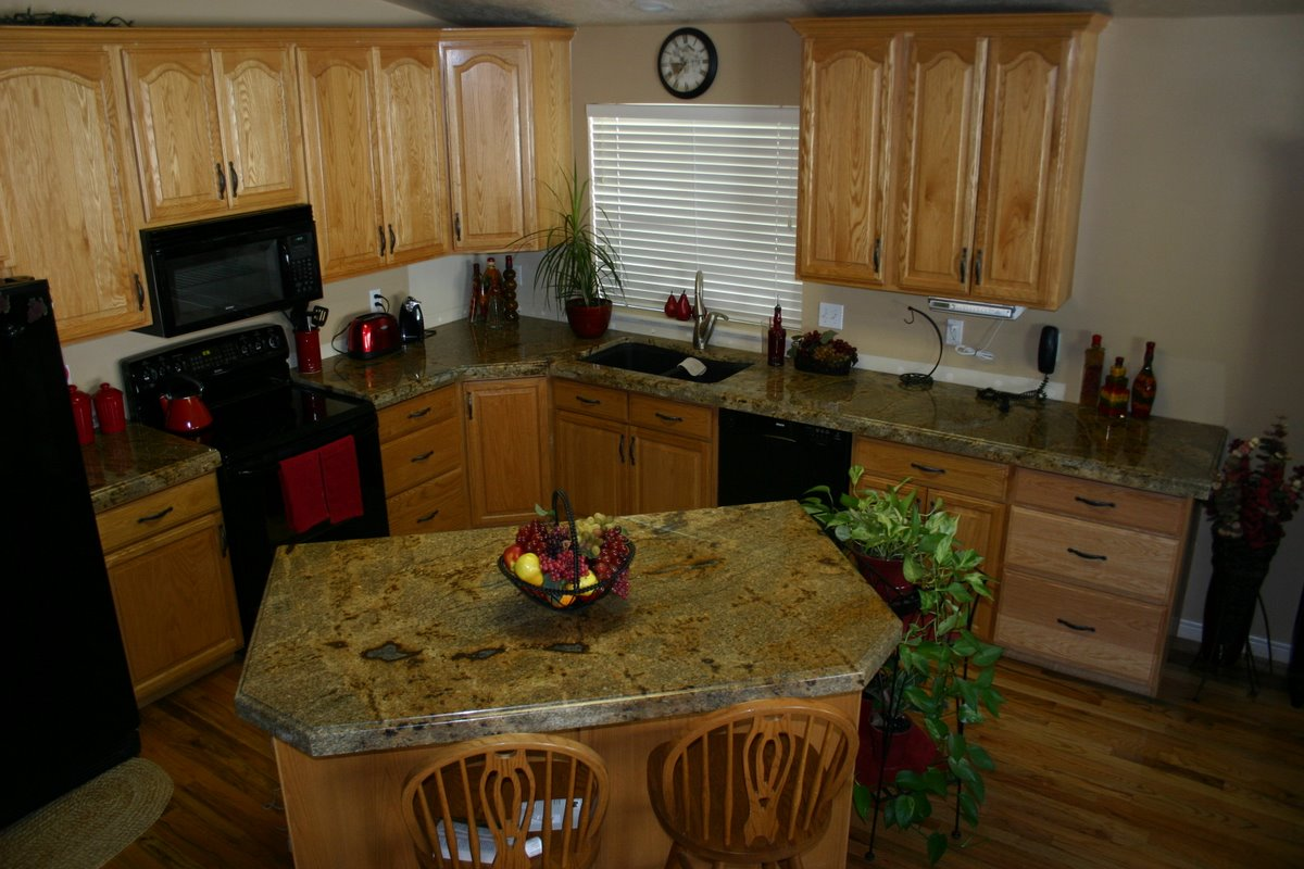 Kitchen Cabinets And Countertops Corner Nook The Granite Gurus: Before After: Lapidus
