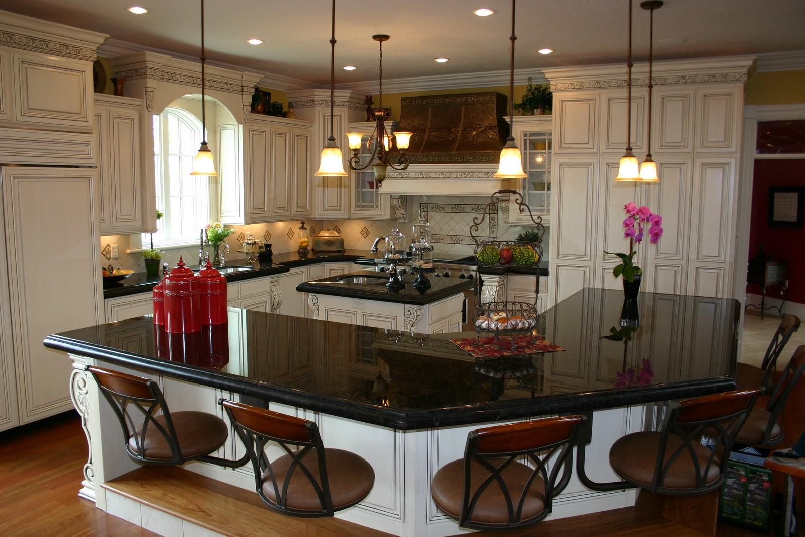 The Granite Gurus: Absolute Black granite Kitchen