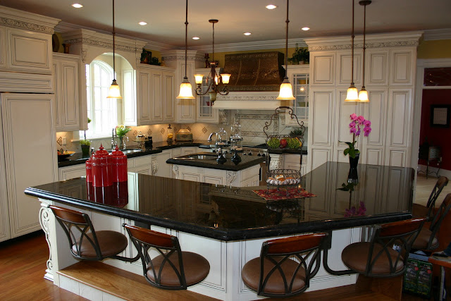 amusing cream kitchen cabinets | The Granite Gurus: Absolute Black granite Kitchen