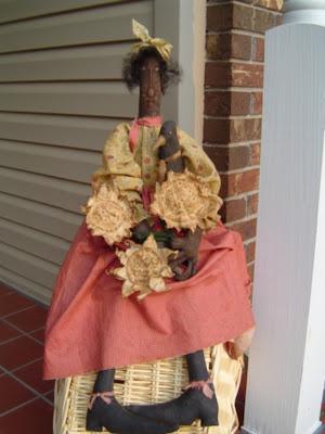 Raggedy Rhondas, plant a garden doll pattern, folk art crow
