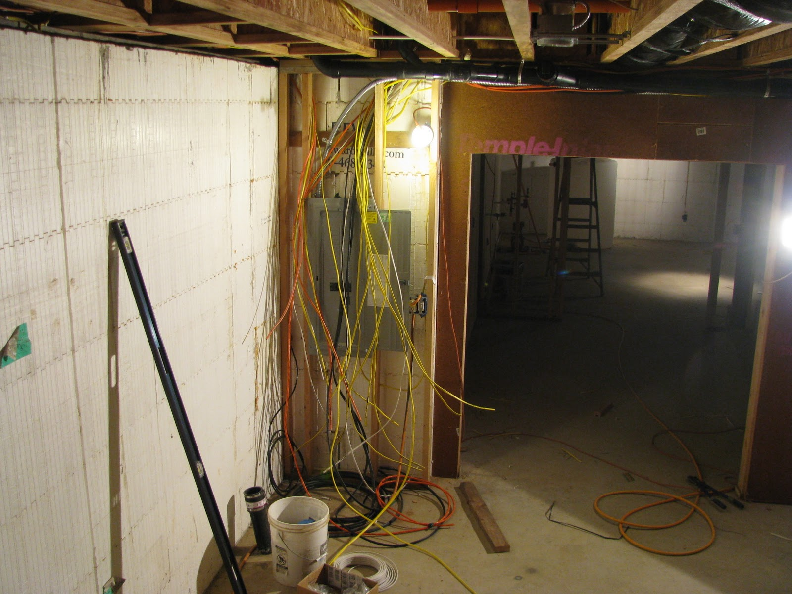 Washington New Old House Wire Everywhere And Not A Light To Blink Basic Electrical Wiring On In The Home Wires Are Id Like Think She Stopped By Her Way See Since Loved Watching Progress Blog