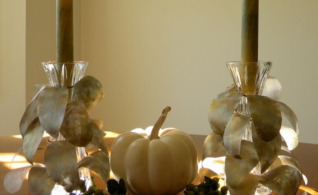 Homework A Creative Blog Inkling Gold Leaf Candle Holders