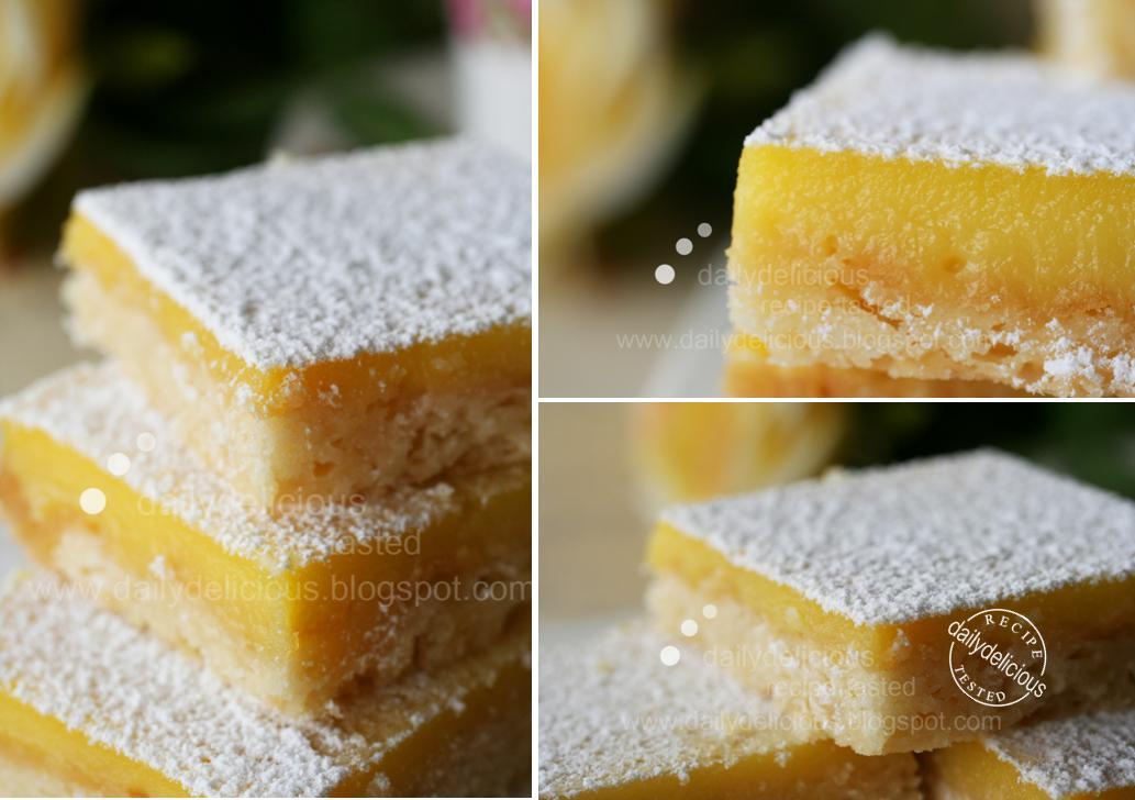 Lemon Cake Squares