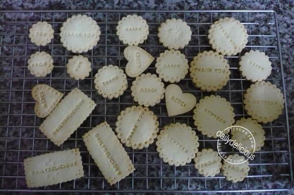 Dailydelicious Happy New Year 2011 Stamped Shortbreads