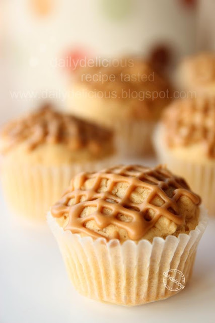 Brown sugar mini muffin with coffee glaze