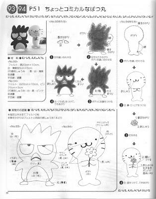 Blog de Goanna: Molde de Badtz Maru (Amigo de Hello Kitty