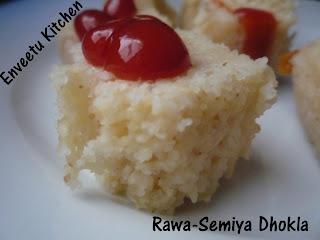 Sooji-Vermicelli Dhokla/Rawa-Semiya Dhokla | the brown eyed