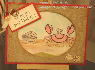 Stampin Up and Crab and Co and Shaker Card