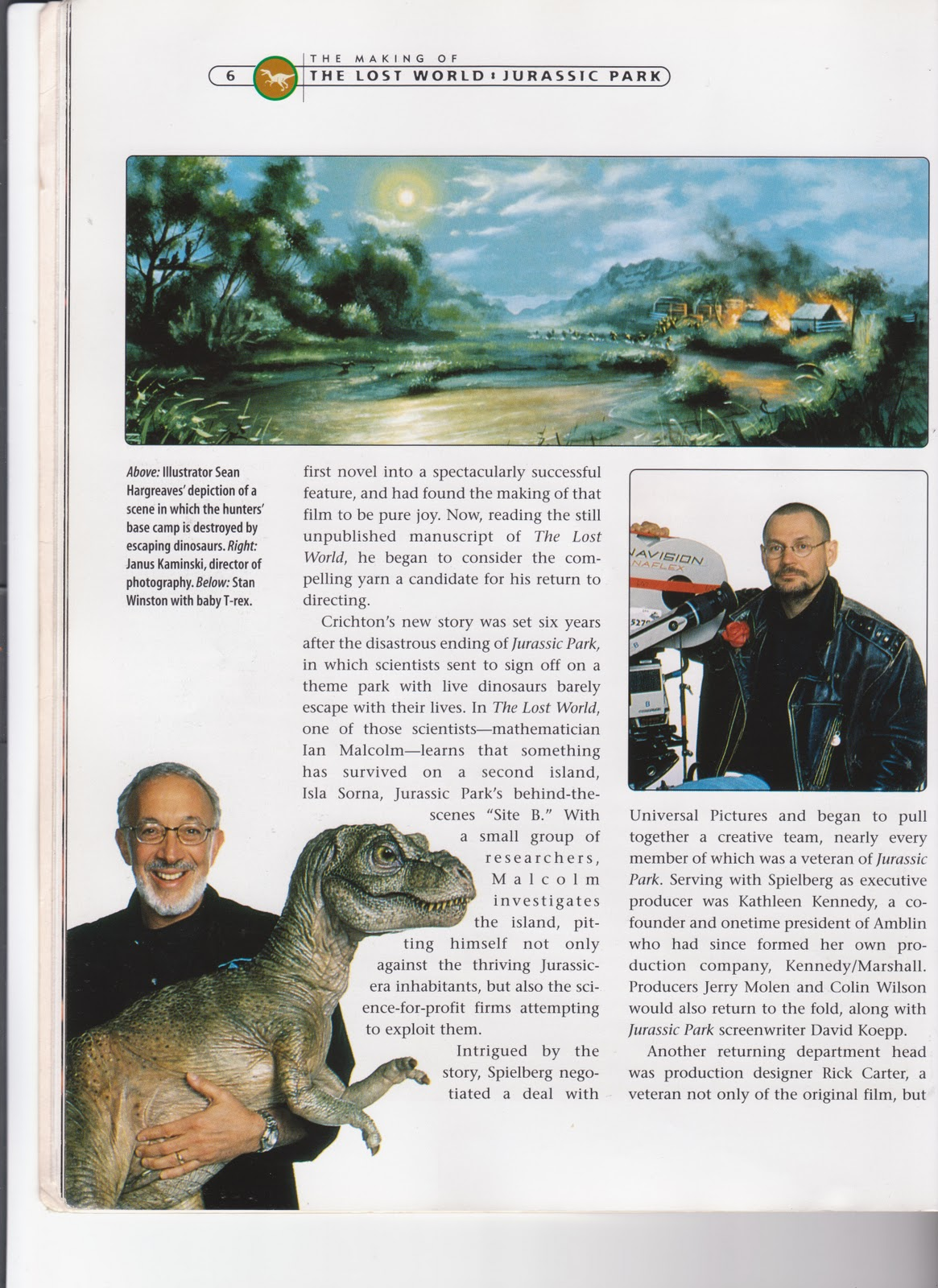 The Making Of Where Do Little Spiders: Max's Blog: Some Scans From The Jurassic Park Making Of Books