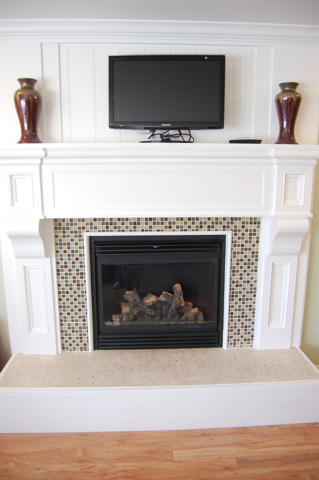 Paisley Patchwork 70s Fireplace Remodel