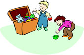 Kids Cleaning Up Toys Clipart Traffic Club