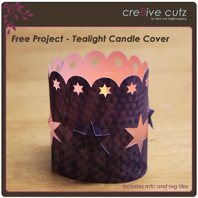 cre8ive cutz tealight candle cover for Make the Cut! and Cricut