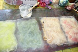 Potomac Fiber Arts Gallery How To Make Silk Paper