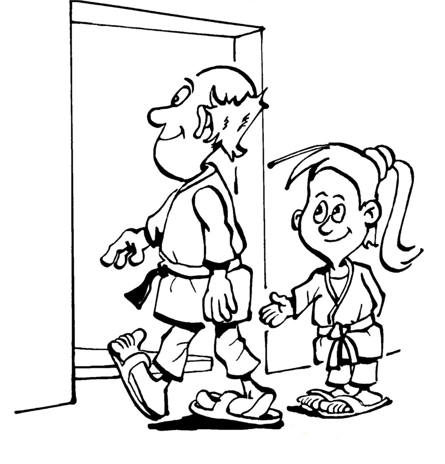 coloring pages showing respect | UNITE TAE KWON DO & FITNESS: Courtesy (Ye Ui)